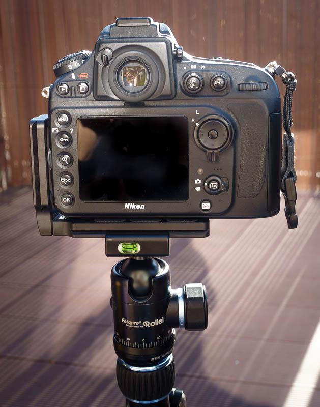 MENGS MPU-100 an Nikon D800 im Querformat