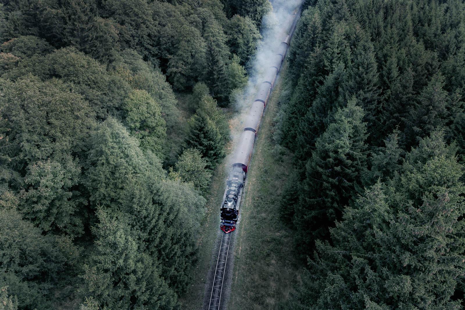 Die Brockenbahn aus der Luft