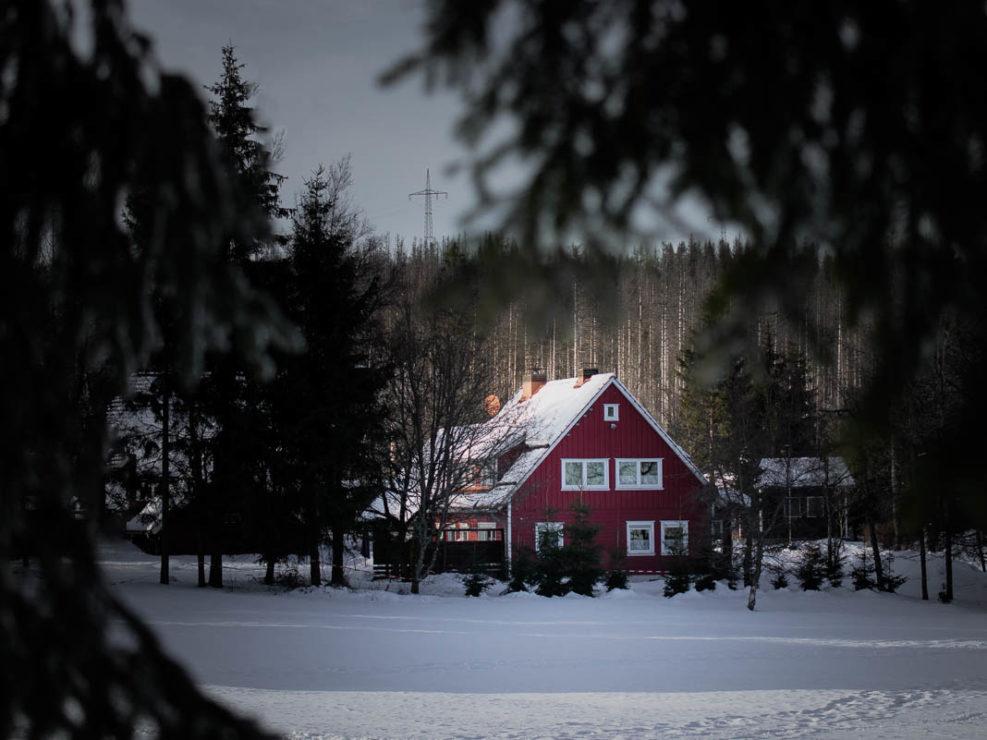 Rote Hütte in Königskrug