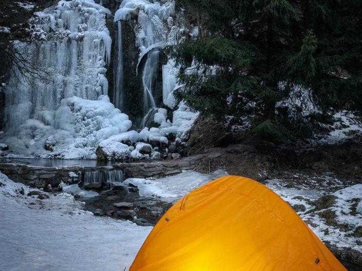 Zelten am Königshütter Wasserfall