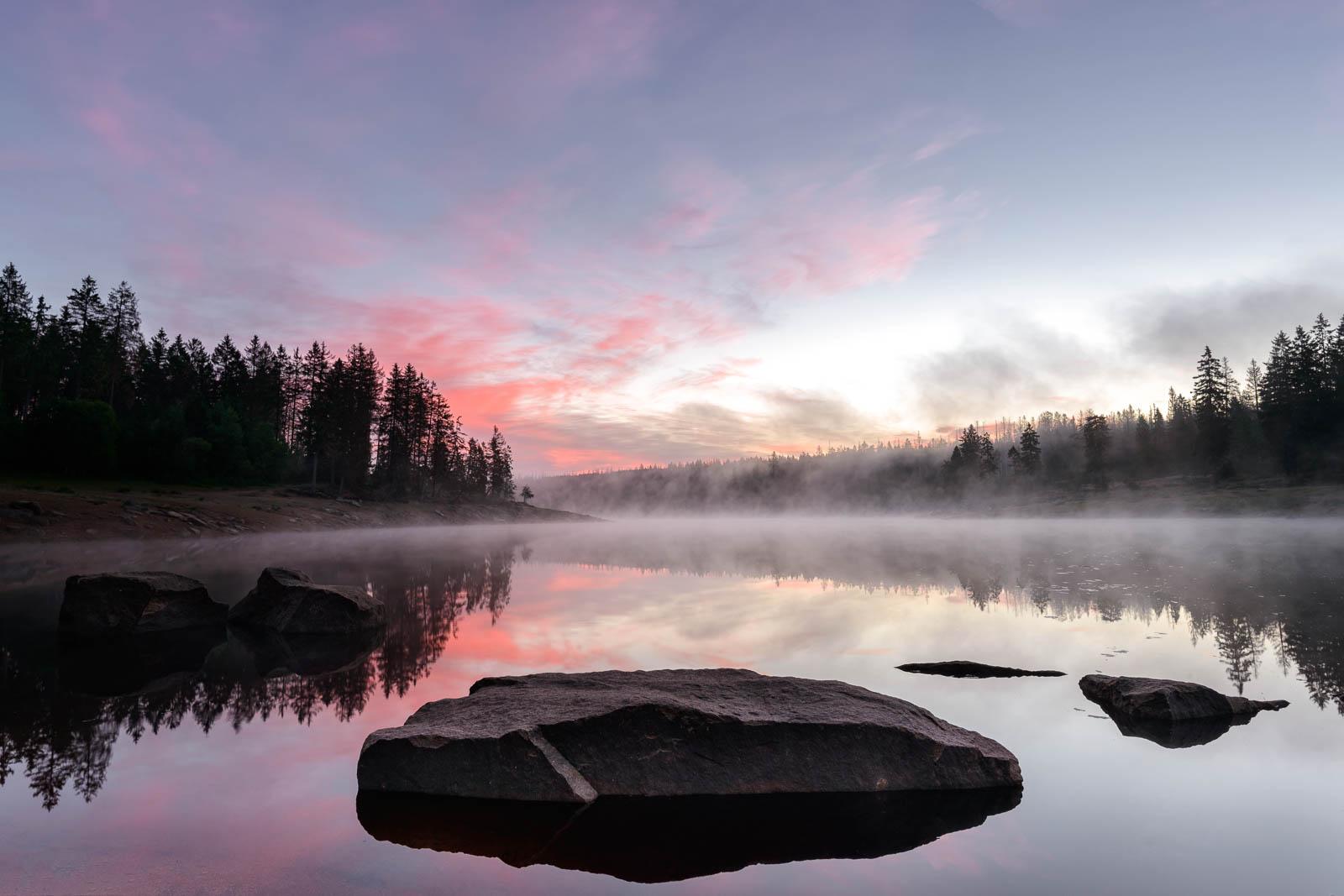 Sonnenaufgang am Oderteich
