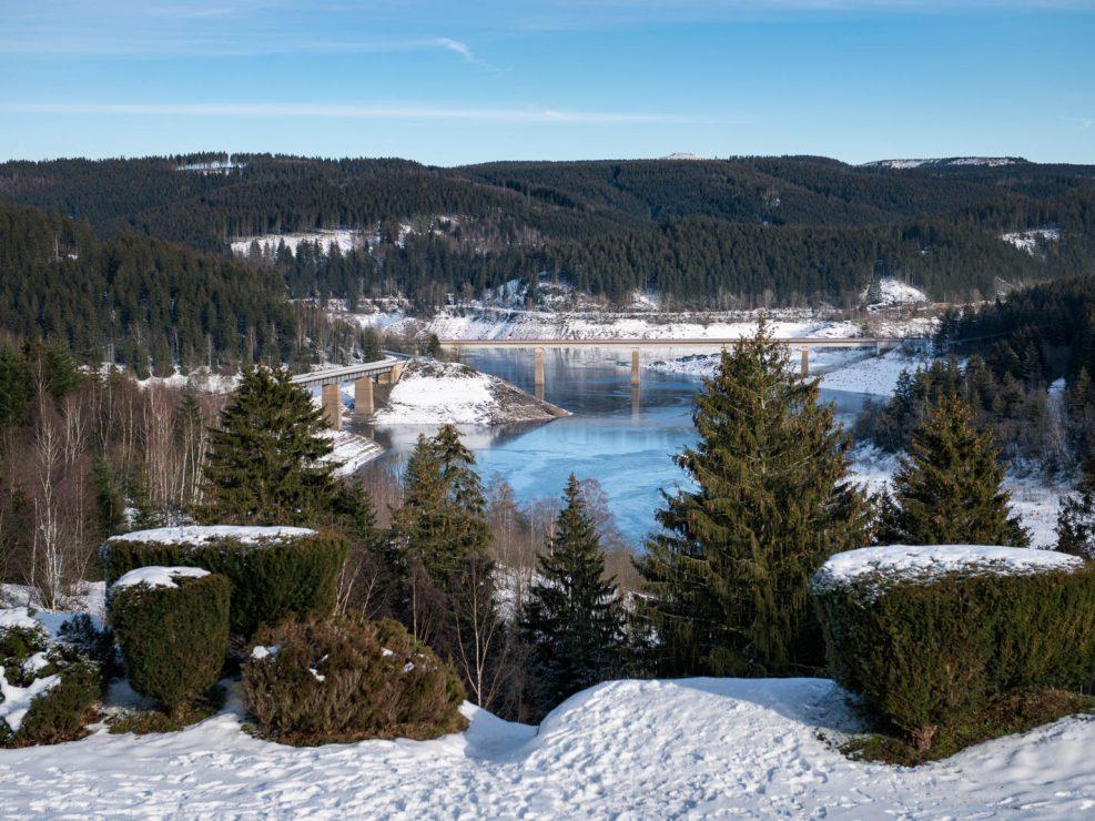 Blick auf die Okertalsperre von Schulenberg im Oberharz