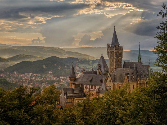 Blick vom Agnesberg auf das Schloss Wernigerode