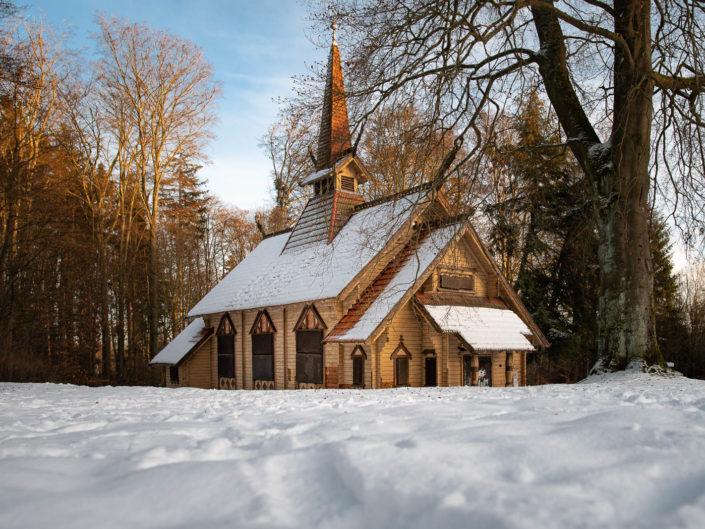 Stabkirche Stiege im Schnee