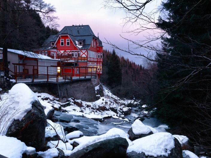 Waldgasthaus Steinerne Renne im Schnee