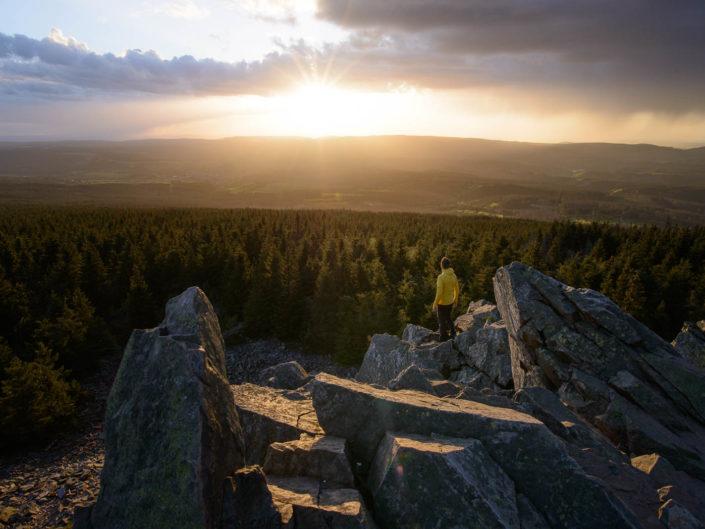 Sonnenuntergang an der Wolfswarte
