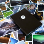 Portfolio mit Printabzügen und einer A5-Heftbox
