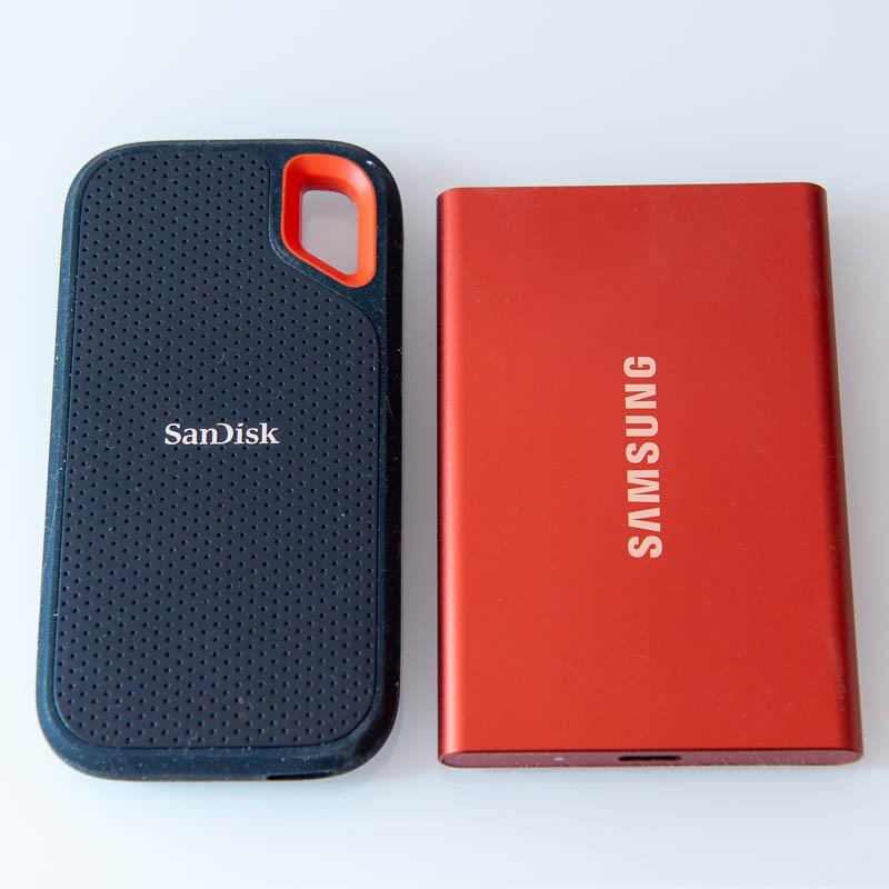 Samsung T7 Portable SSD vs. SanDisk Extreme Portable SSD