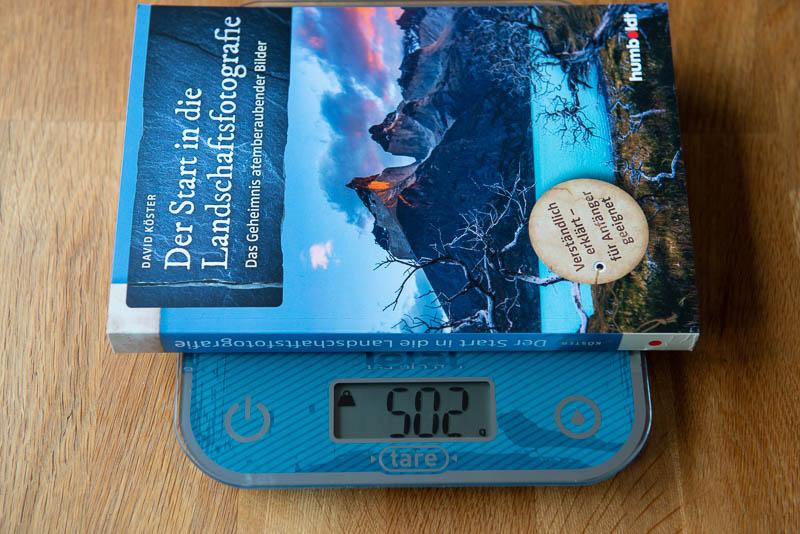 Der Start in die Landschaftsfotografie - Gewicht des Buches