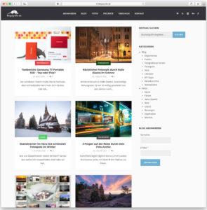 Die Blog-Seite von Blogografie.de im alten WordPress-Theme