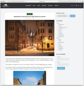 Ein Blog-Beitrag von Blogografie.de im alten WordPress-Theme