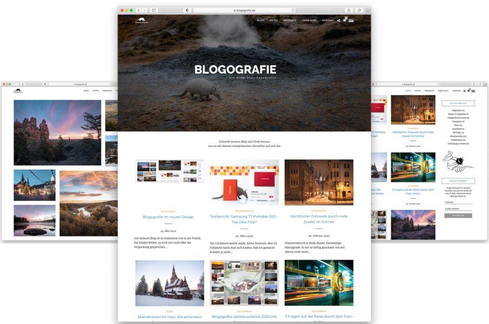 Neues WordPress-Theme für Blogografie.de