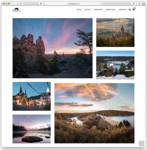 Eine Fotogalerie erstellt mit dem Photography WordPress-Theme
