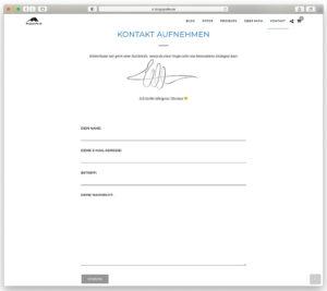 Das Kontaktformular von Blogografie.de im neuen WordPress-Theme