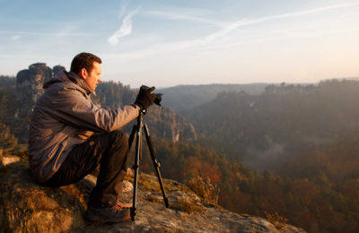 Landschaftsfotograf Thomas Spangenberg von blogografie.de beim Fotografieren