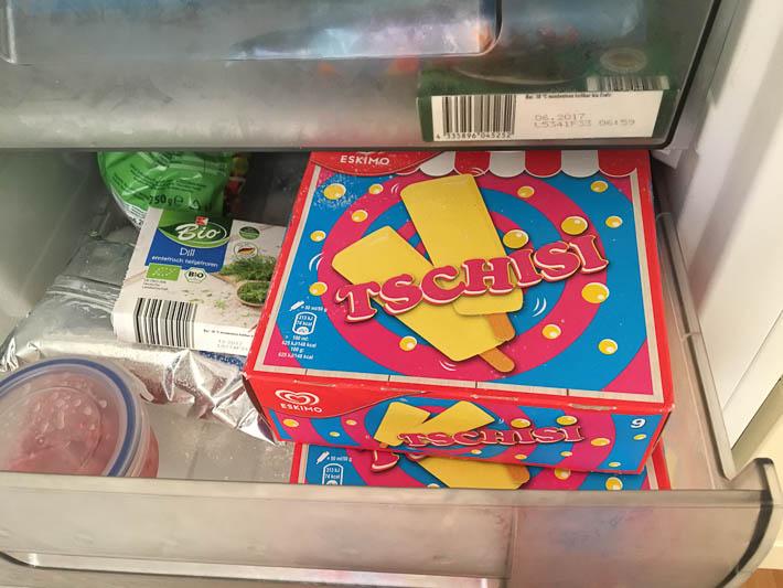 Tschisi im Kühlfach