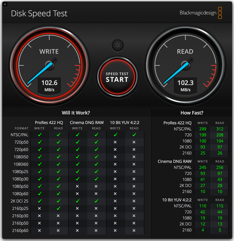 wd elements portable hdd - speedtest