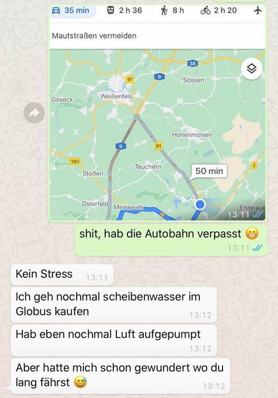 Die chaotische Anreise in die Alpen, mit verpasster Auffahrt auf die Autobahn