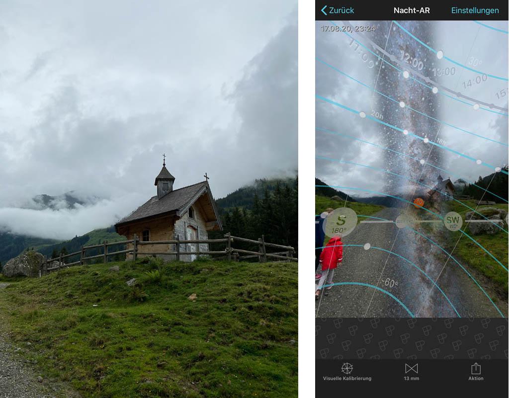 Planung der Milchstraßen-Fotografie an der Schönangeralm mit Photopills