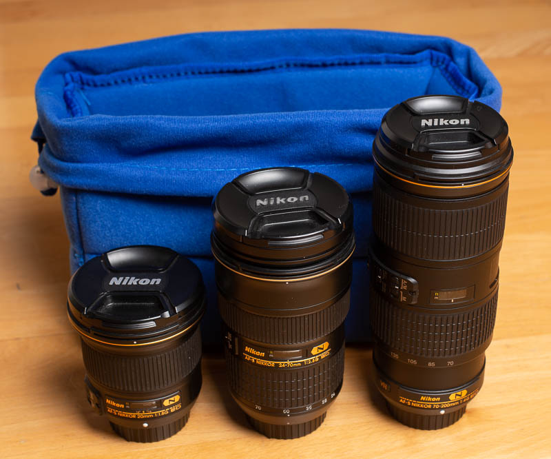 Yimidear - Kamera-Schutztasche als Inlet mit Objektiven