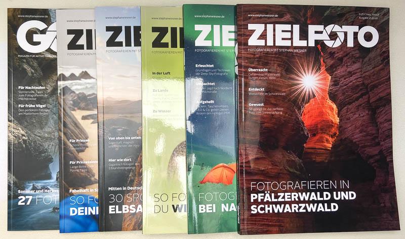 Die ZIELFOTO-Magazine der vergangenen Ausgaben